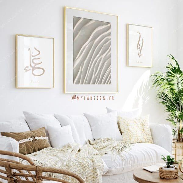 Trio de poster white sand