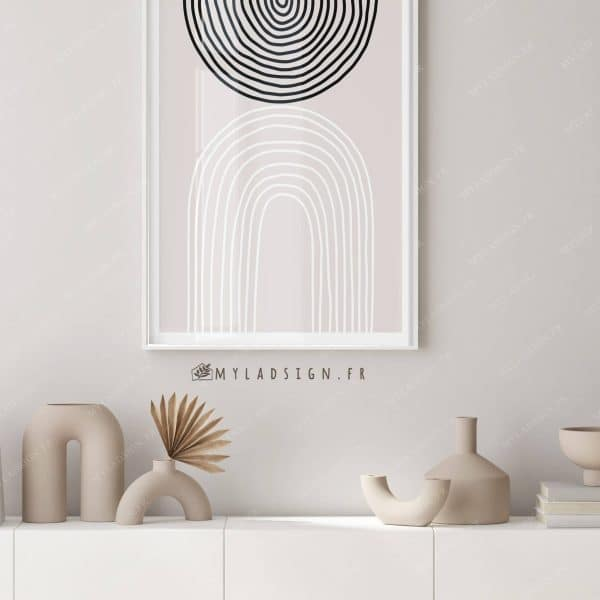 poster abstract line